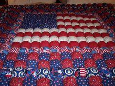 Air Force Patriotic Puff Quilt