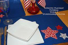 Easy Patriotic Placemats