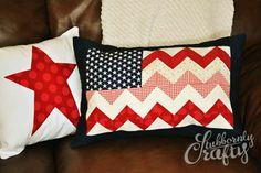 Chevron Flag Pillow Cover Tutorial {DIY Decor} by Stubbornly Crafty