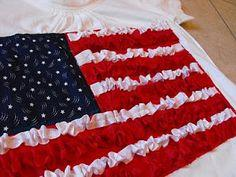 Ruffled American Flag Shirt Tutorial