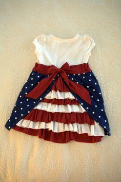 Red, white, and blue Bustle Dress