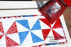 Patriotic Pinwheel Runner Tutorial