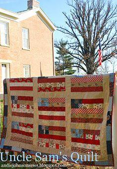 Uncle Sam's Quilt with American Banner Rose