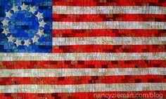 The Betsy Ross Flag, a  Free Quilt Pattern from a SWN viewer!