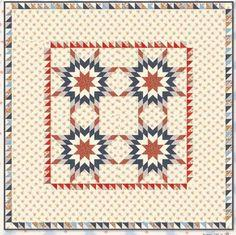 American Banner Rose Quilt