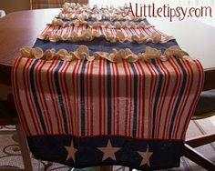 Burlap Ruffle Table Runner