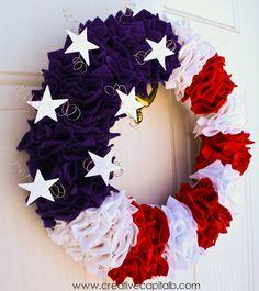 Ruffly Patriotic Wreath Tutorial