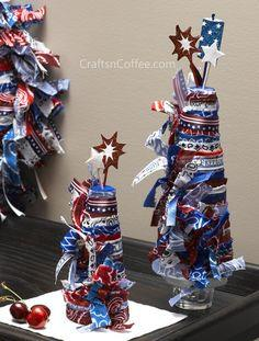For a party or a picnic, try these patriotic centerpiece ideas