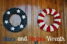 Stars and Stripes Wreath Tutorial