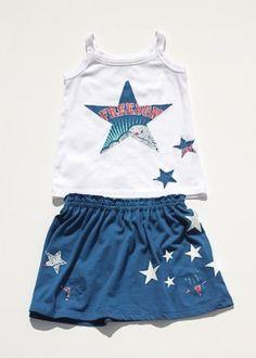 4TH OF JULY T-SHIRT TODDLER SKIRT