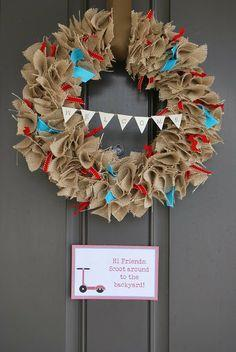 4th of July Burlap Wreath tutorial