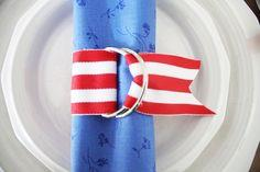 DIY Fourth of July Napkin Rings