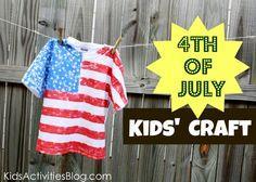 4th of July Flag Shirt Tutorial