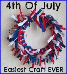 Easiest 4th Of July Craft EVER