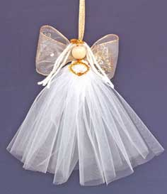 Easy Angel Crafts: Tulle Angel