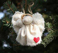 Rustic Christmas Angel Pin and ornament