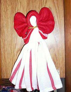 How to Make a Kitchen Towel Angel