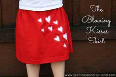 Valentines Project We Love : Blowing Kisses Skirt