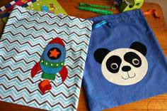 Book Buddies ~ Drawstring Bags with Appliqué
