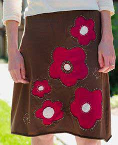 True Love ~ Reverse-Appliqué Skirt from Improv Sewing