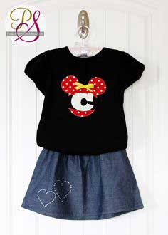 FREE Mickey and Minnie Mouse Appliqué Designs