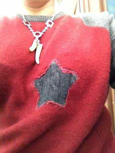 Mend and Make Do: Repairing a Cashmere Sweater in Alabama Chanin Style with Reverse Applique