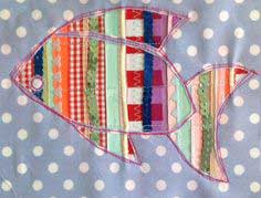 Reverse applique spangly fish picture