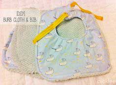 DIY Baby Bib & Burp Cloth [tutorial]