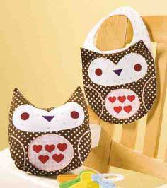 Cute as a Hoot Owl & Bib