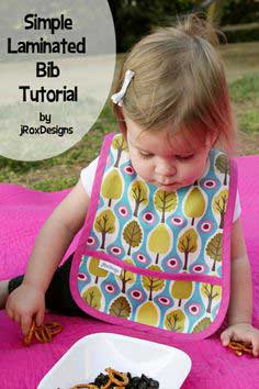 Simple Laminated Bib Tutorial and Pattern