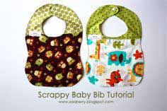 Scrappy Baby Bib Tutorial