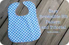 Reversible Baby Bib Tutorial and Pattern