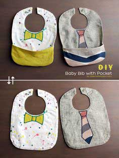 (DIY) Baby Bib with Pocket