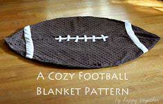 A Cozy Football Blanket Pattern {Free}