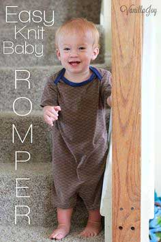 Tutorial: EASY Knit Baby Romper