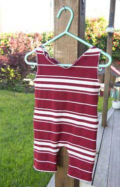 DIY SUMMER SUNSUIT FROM A T-SHIRT