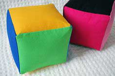 Colorful Fabric Baby Stacking Blocks