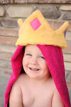 Princess Hooded Towel Tutorial