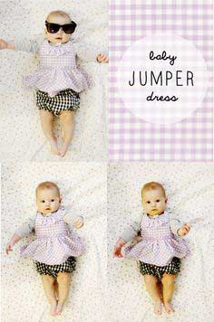 baby jumper dress pattern (with a ruffle!)