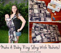 A Baby Ring Sling With Pockets!