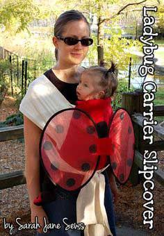 Ladybug Baby Carrier Slipcover Tutorial