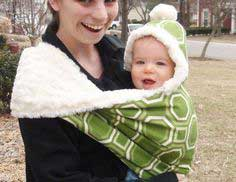 Hooded Winter Baby Sling