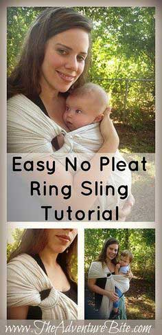 HOW TO SEW A RING SLING WITH A GATHERED SHOULDER
