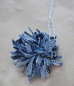 Craft: Denim Pom Poms