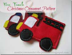 Fire Truck Christmas Ornament: Tutorial & Pattern