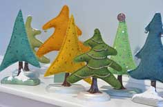 Making Felt Christmas Trees