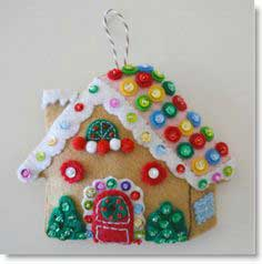 Tutorial: Gingerbread House Ornamen