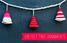 SIMPLE FELT TREE ORNAMENT TUTORIAL