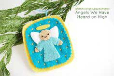 PROJECT: ANGELS WE HAVE HEARD ON HIGH FELT ORNAMENT