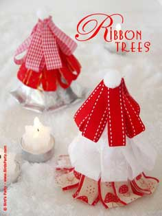 TUTORIAL: Ribbon Christmas Trees